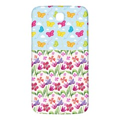 Watercolor flowers and butterflies pattern Samsung Galaxy Mega I9200 Hardshell Back Case
