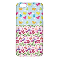 Watercolor flowers and butterflies pattern iPhone 6 Plus/6S Plus TPU Case