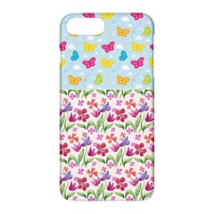 Watercolor flowers and butterflies pattern Apple iPhone 7 Plus Hardshell Case