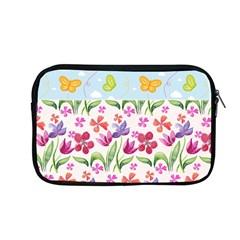 Watercolor Flowers And Butterflies Pattern Apple Macbook Pro 13  Zipper Case