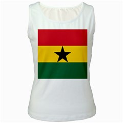 Flag of Ghana Women s White Tank Top