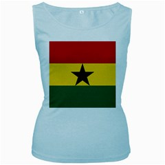 Flag of Ghana Women s Baby Blue Tank Top