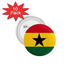 Flag of Ghana 1.75  Buttons (10 pack)