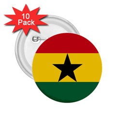 Flag of Ghana 2.25  Buttons (10 pack)