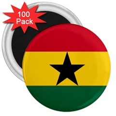 Flag of Ghana 3  Magnets (100 pack)