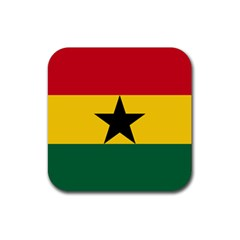 Flag of Ghana Rubber Square Coaster (4 pack)