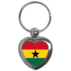 Flag of Ghana Key Chains (Heart)