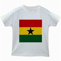 Flag of Ghana Kids White T-Shirts