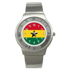 Flag of Ghana Stainless Steel Watch