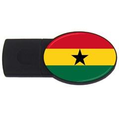 Flag of Ghana USB Flash Drive Oval (4 GB)