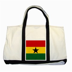 Flag of Ghana Two Tone Tote Bag