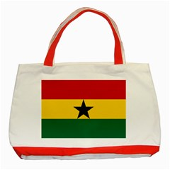 Flag of Ghana Classic Tote Bag (Red)