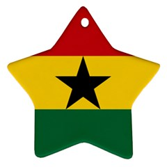 Flag of Ghana Star Ornament (Two Sides)