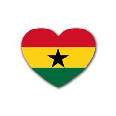 Flag of Ghana Heart Coaster (4 pack)