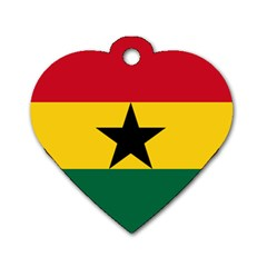 Flag of Ghana Dog Tag Heart (Two Sides)