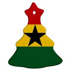 Flag of Ghana Christmas Tree Ornament (Two Sides)