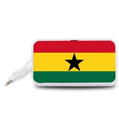 Flag of Ghana Portable Speaker (White)