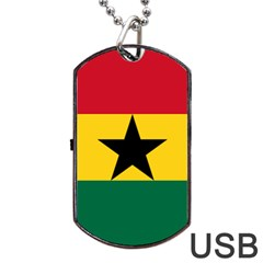 Flag of Ghana Dog Tag USB Flash (Two Sides)