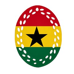 Flag of Ghana Oval Filigree Ornament (Two Sides)