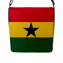 Flag of Ghana Flap Messenger Bag (L)