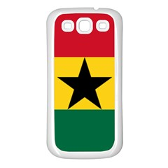 Flag of Ghana Samsung Galaxy S3 Back Case (White)