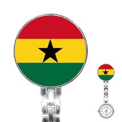 Flag of Ghana Stainless Steel Nurses Watch