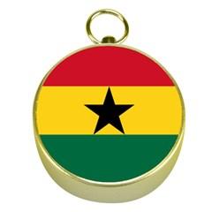 Flag of Ghana Gold Compasses
