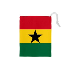 Flag of Ghana Drawstring Pouches (Small)