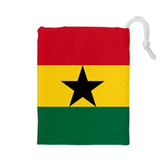 Flag of Ghana Drawstring Pouches (Large)