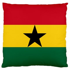 Flag of Ghana Large Flano Cushion Case (Two Sides)