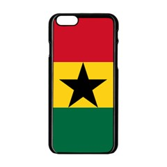 Flag of Ghana Apple iPhone 6/6S Black Enamel Case