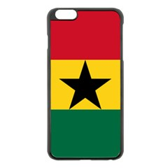 Flag of Ghana Apple iPhone 6 Plus/6S Plus Black Enamel Case