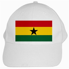 Flag of Ghana White Cap