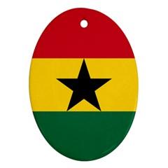 Flag of Ghana Ornament (Oval)