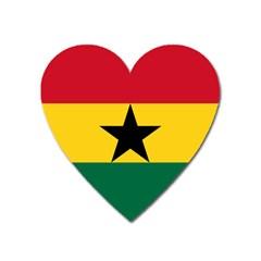 Flag of Ghana Heart Magnet
