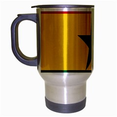 Flag of Ghana Travel Mug (Silver Gray)