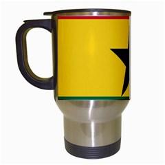 Flag of Ghana Travel Mugs (White)