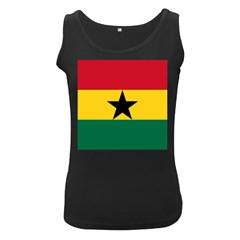Flag of Ghana Women s Black Tank Top