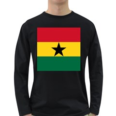 Flag of Ghana Long Sleeve Dark T-Shirts