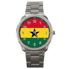 Flag of Ghana Sport Metal Watch