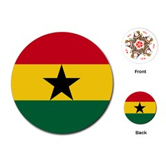Flag of Ghana Playing Cards (Round)