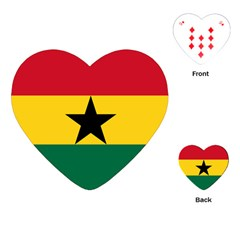 Flag of Ghana Playing Cards (Heart)