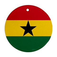 Flag of Ghana Round Ornament (Two Sides)