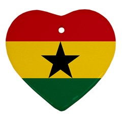 Flag of Ghana Heart Ornament (Two Sides)