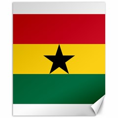 Flag of Ghana Canvas 11  x 14