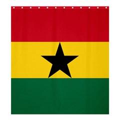 Flag of Ghana Shower Curtain 66  x 72  (Large)