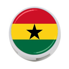 Flag of Ghana 4-Port USB Hub (One Side)