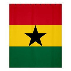Flag of Ghana Shower Curtain 60  x 72  (Medium)