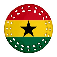 Flag of Ghana Round Filigree Ornament (Two Sides)