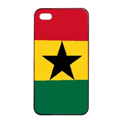 Flag of Ghana Apple iPhone 4/4s Seamless Case (Black)